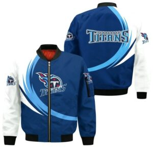 Tennessee Titans Bomber Jacket graphic curve